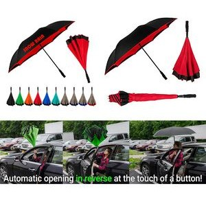 Auto Open Upside Reversible Inverted Umbrella